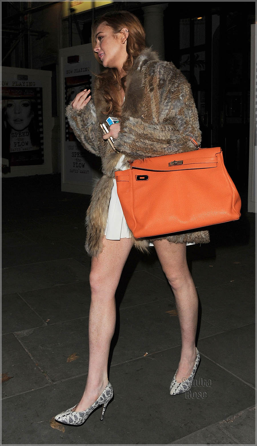 Lindsay Lohan leaving the Playhouse theatre