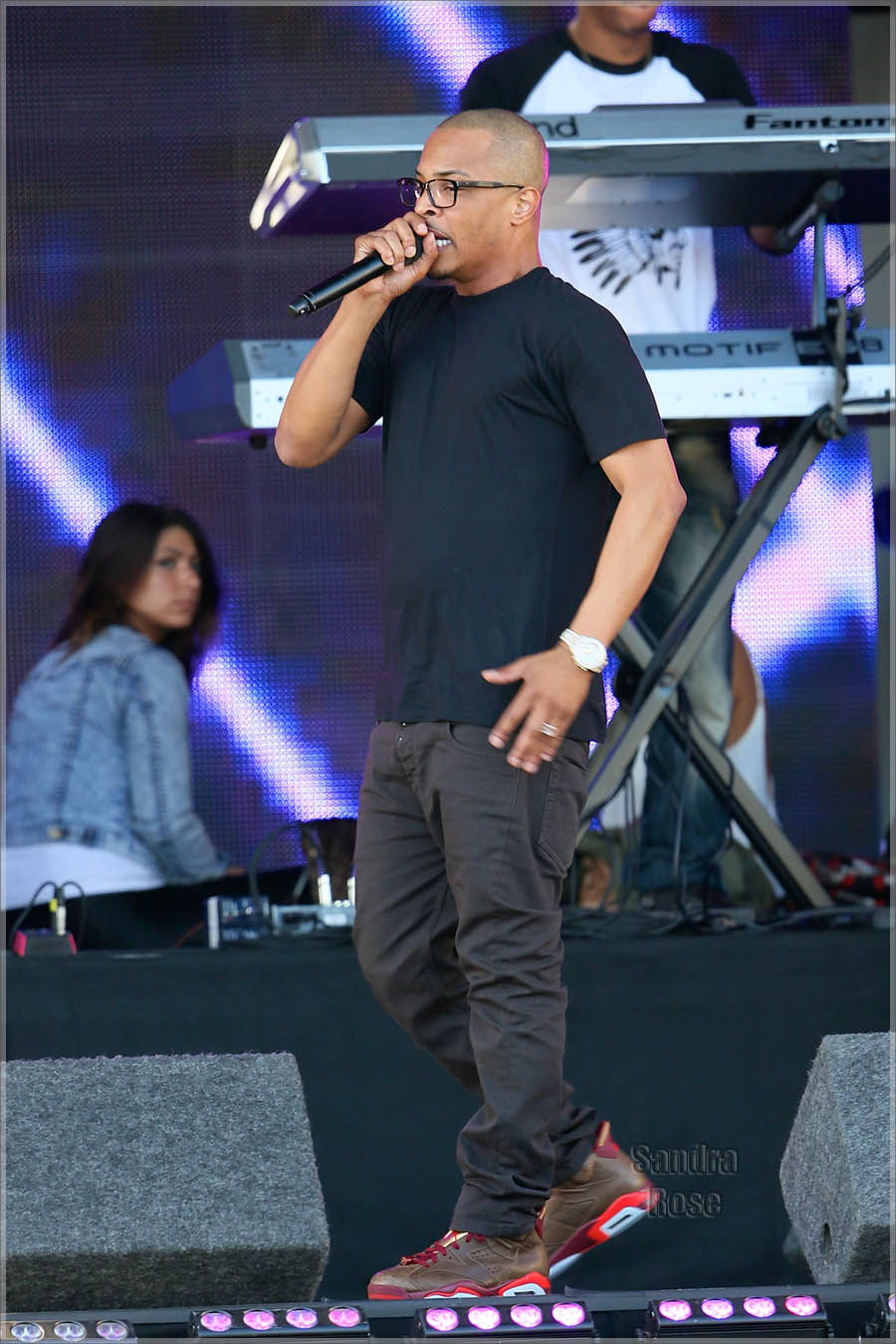 T.I. performs on Jimmy Kimmel Live!