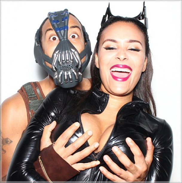 Ludacris and Eudoxie Halloween 2014