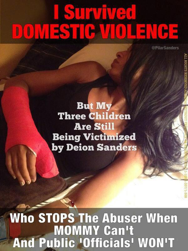 Pilar Sanders domestic violence
