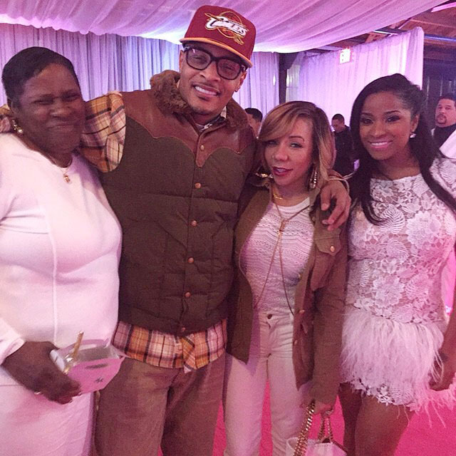 L - R: Toya's mom, rapper T.I., Tiny and Toya