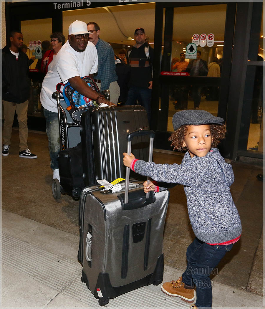 Bobby Brown at Los Angeles International Airport