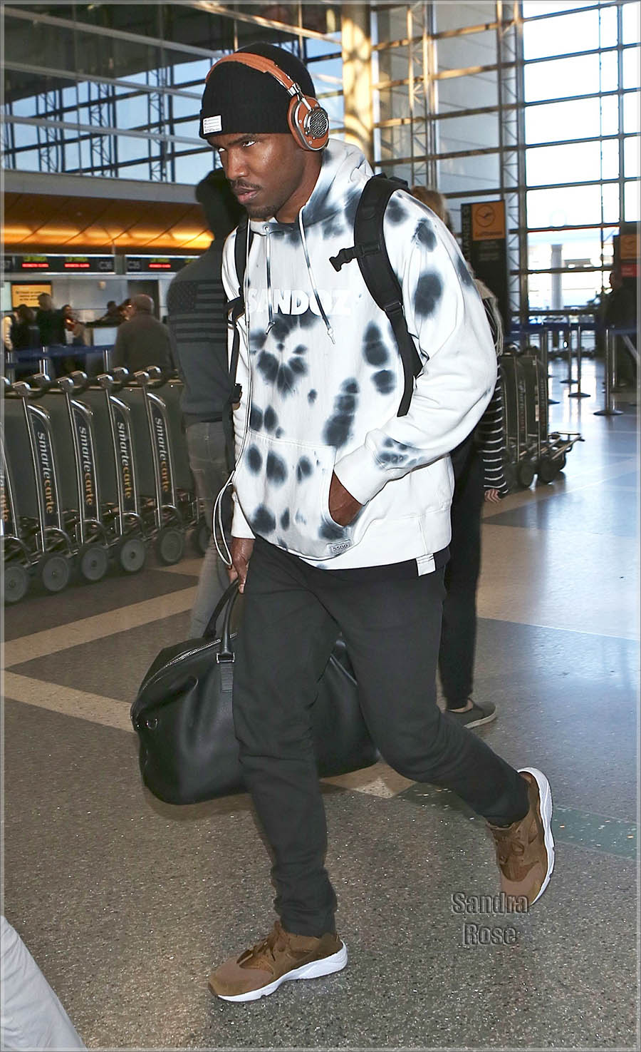 Frank Ocean departs from Los Angeles International Airport