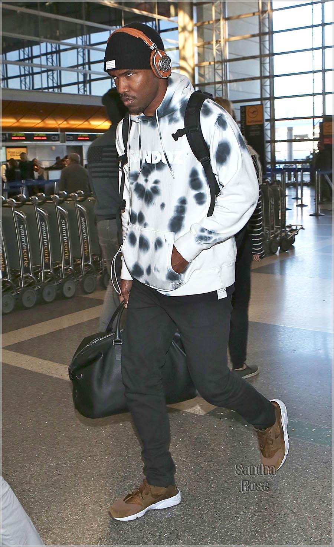 Frank Ocean departs from Los Angeles International Airport