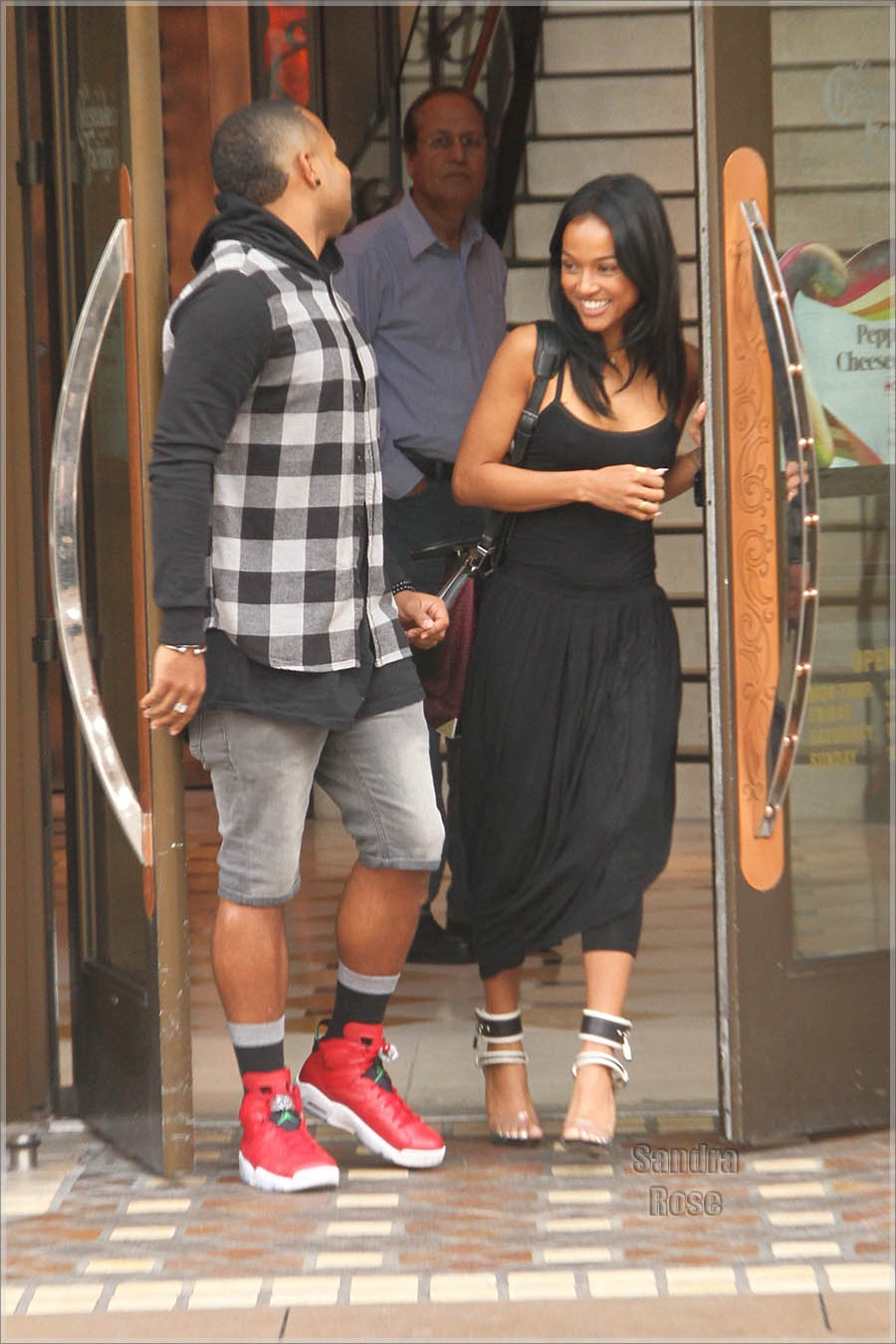 Karrueche Tran goes shopping at The Grove