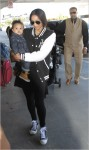 Ciara with her son departs from Los Angeles International Airport