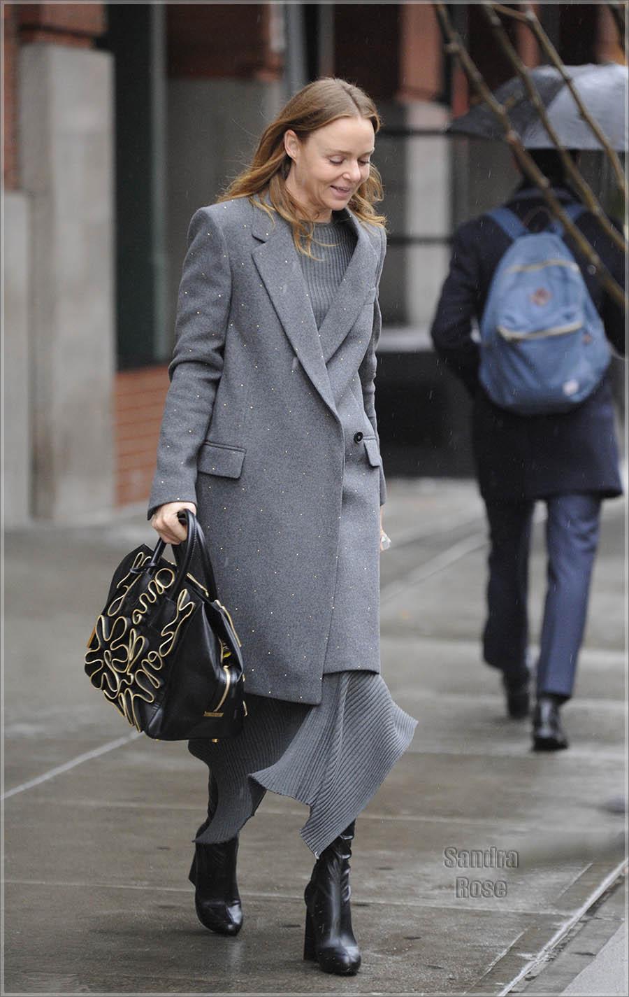 Stella McCartney leaving her hotel in New York