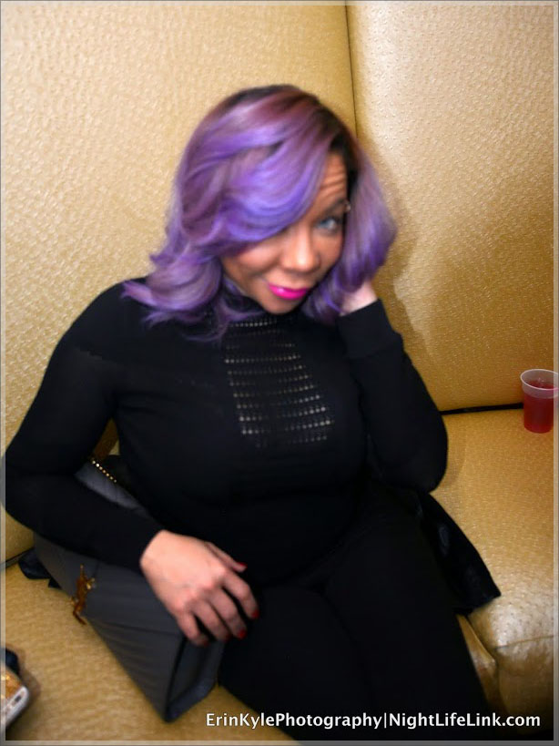 Blue eyed Diva Tiny Harris held it down in the VIP on NYE.