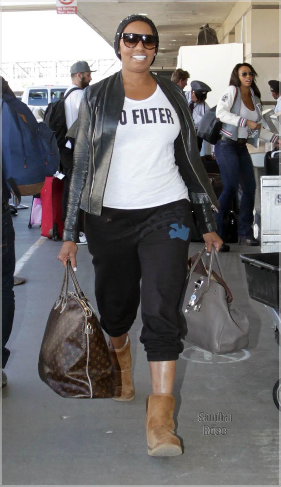 NeNe Leakes departs from Los Angeles International Airport