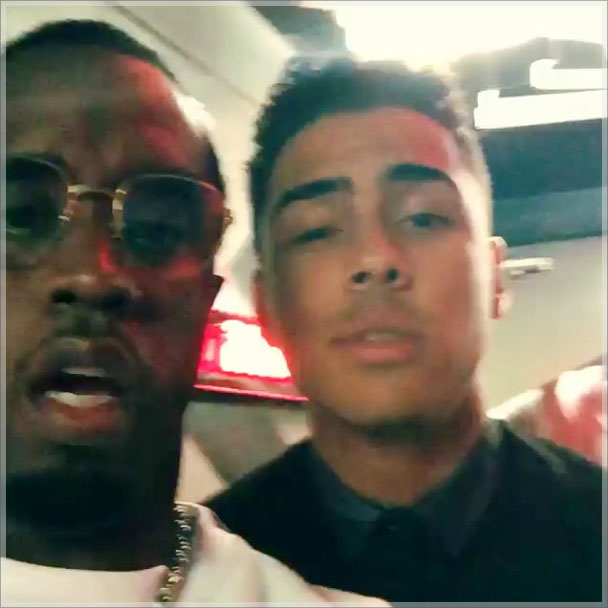 Sean Combs and Quincy Brown