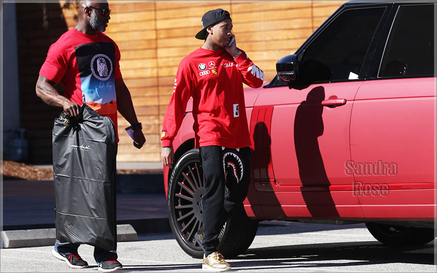 Rapper Tyga out shopping at Maxfields in West Hollywood