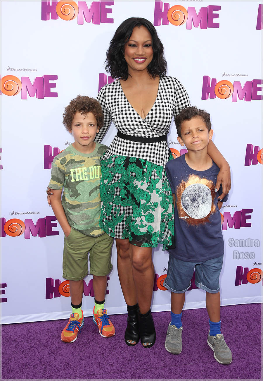 Garcelle Beauvais and twins attend Twentieth Century Fox special screening of HOME
