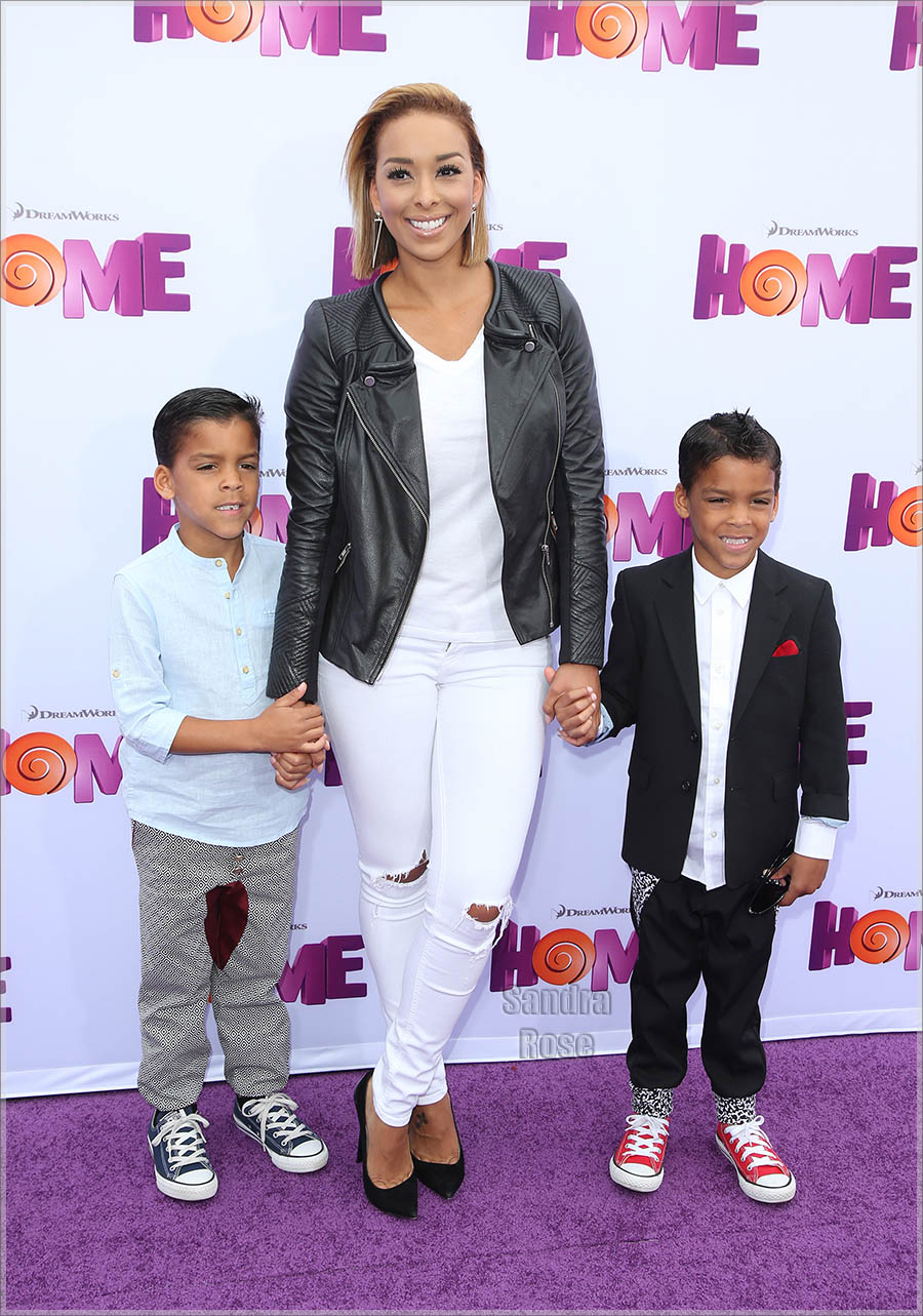 Laura Govan and sons attend Twentieth Century Fox special screening of HOME
