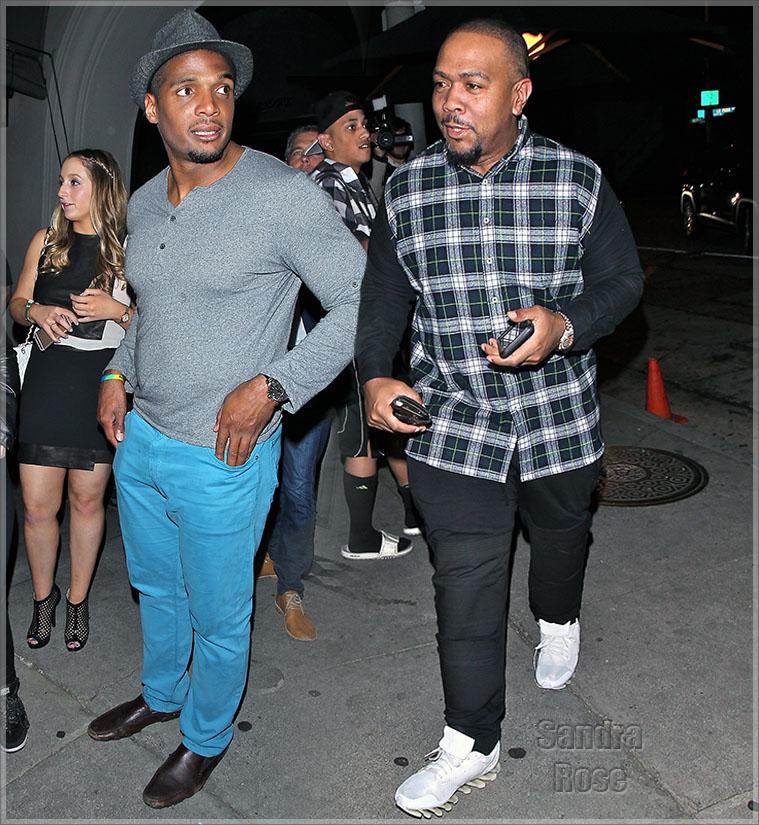 Michael sam and Timbaland WENN