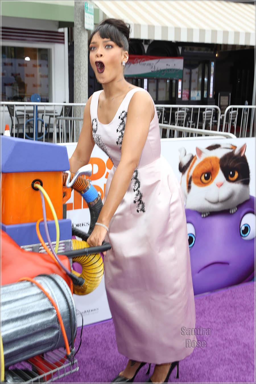 Rihanna attend Twentieth Century Fox special screening of HOME