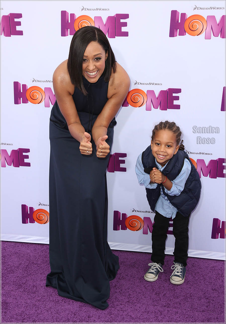Tia Mowry-Hardrict and Cree Hardrict attend Twentieth Century Fox special screening of HOME