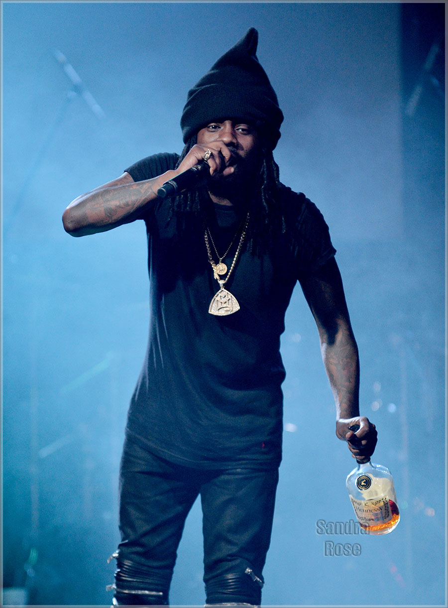 Wale performing
