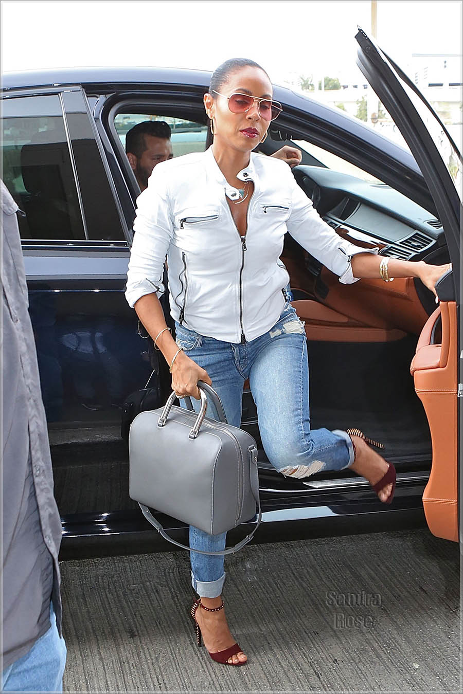 Jada Pinkett Smith departs from Los Angeles International Airport