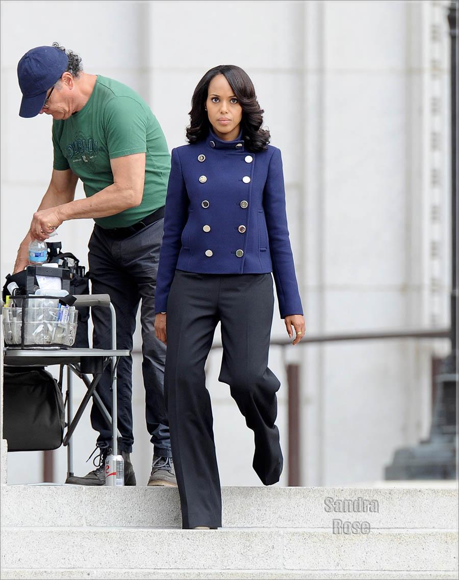 Kerry Washington filming 'Scandal'