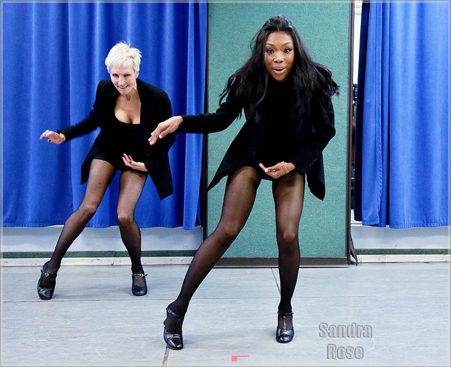 Brandy Norwood as Roxie Hart in 'Chicago' - Rehearsal