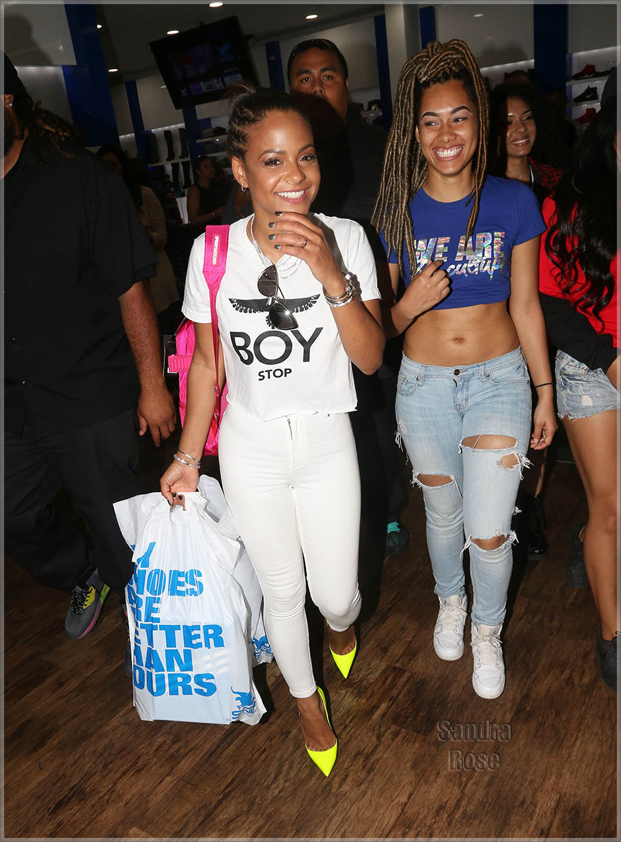 Karrueche Tran and Christina Milian shopping