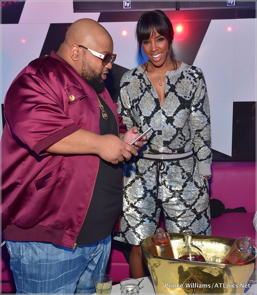 Kelly Rowland and Jazze Pha at Gold Room