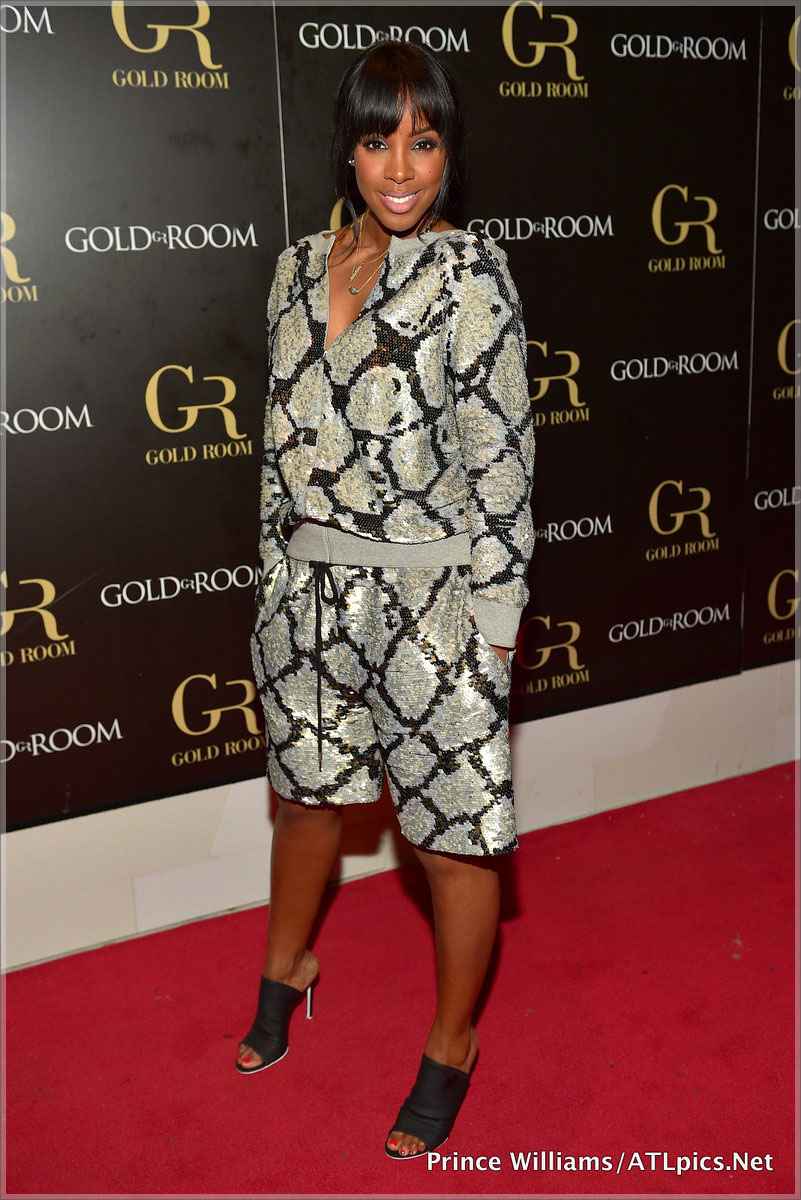 Kelly Rowland Hosts Gold Room in Atlanta