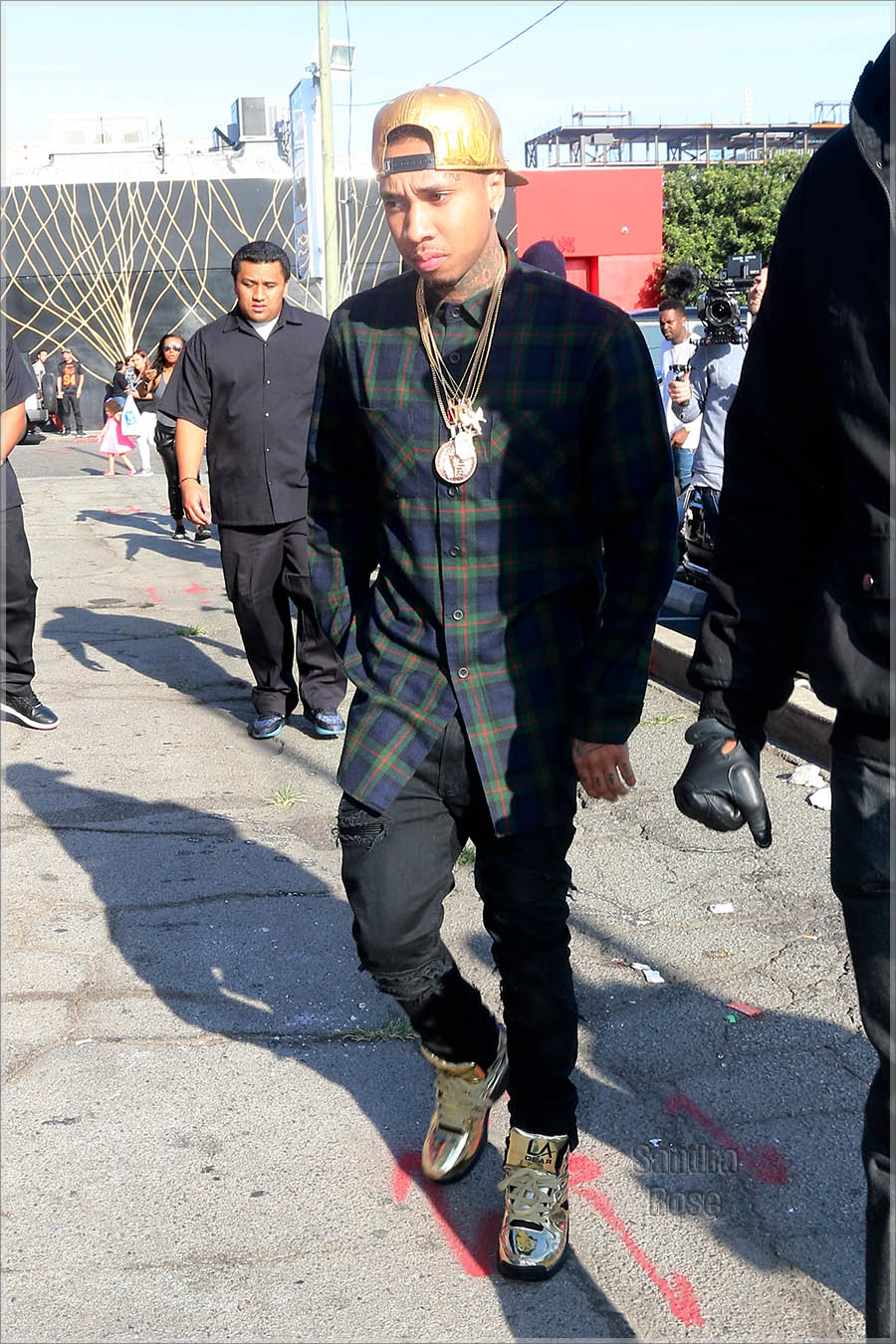 Tyga out and about with his boys