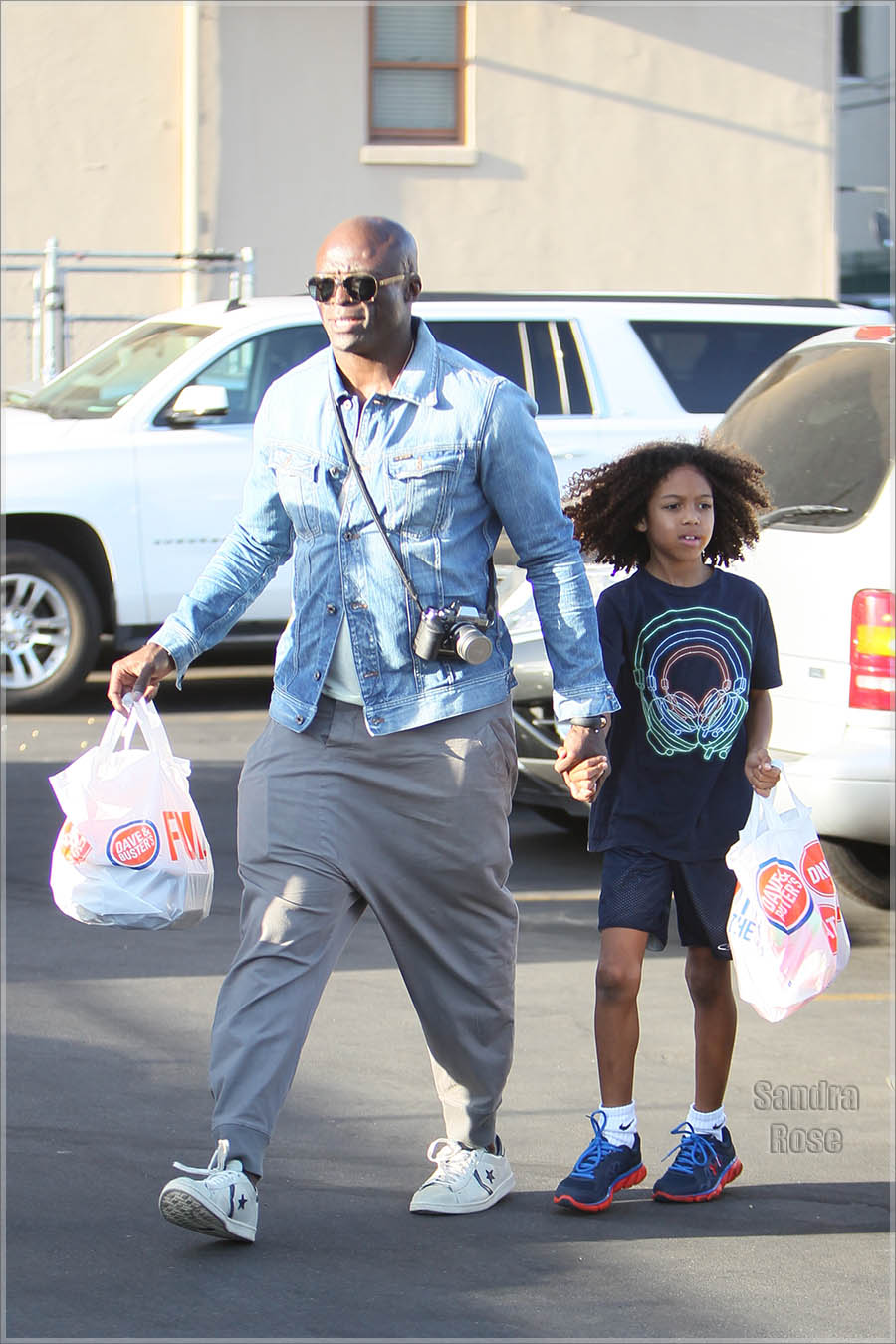 Seal Samuel seen leaving Dave and Busters.
