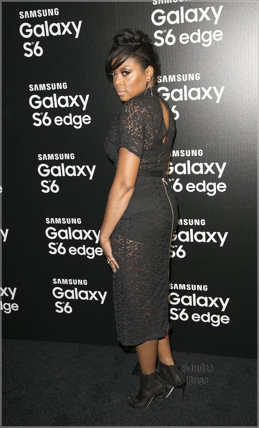 Taraji P Henson attends Samsung Celebrates Launch of Galaxy S6