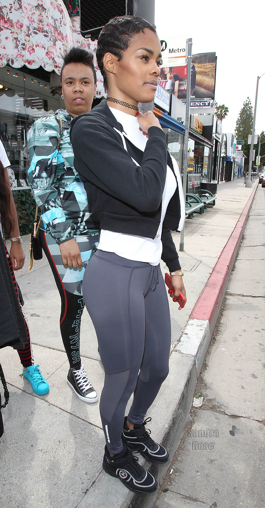Teyana Taylor shops on Melrose Avenue