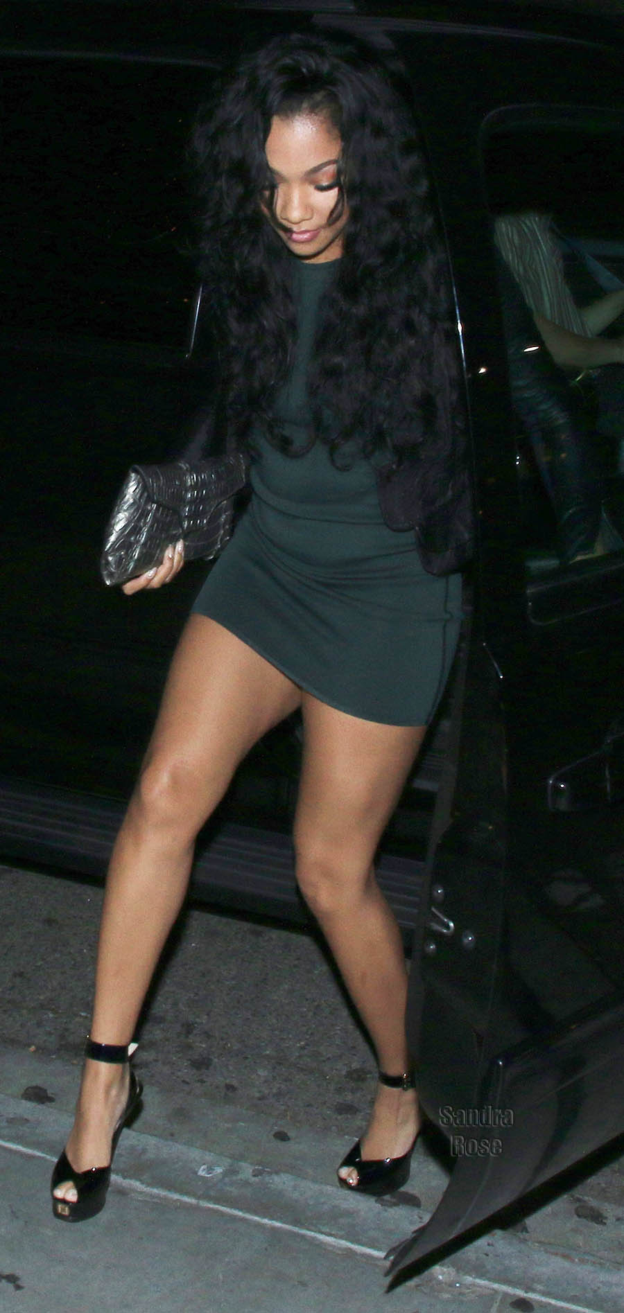 Bria Murphy arrives at STK Steakhouse