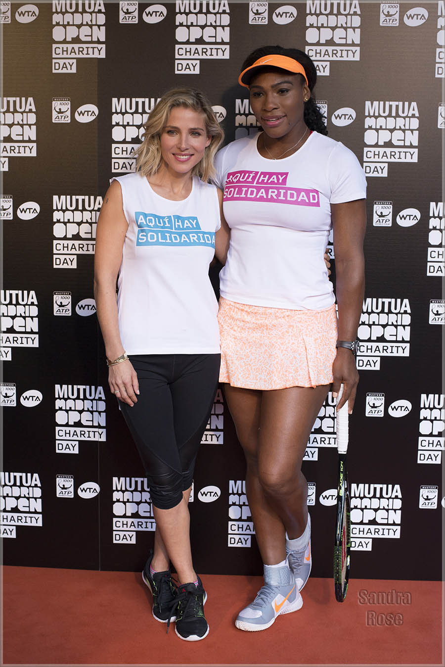 Elsa Pataky and Serena Williams at Mutua Madrid Open Charity Day