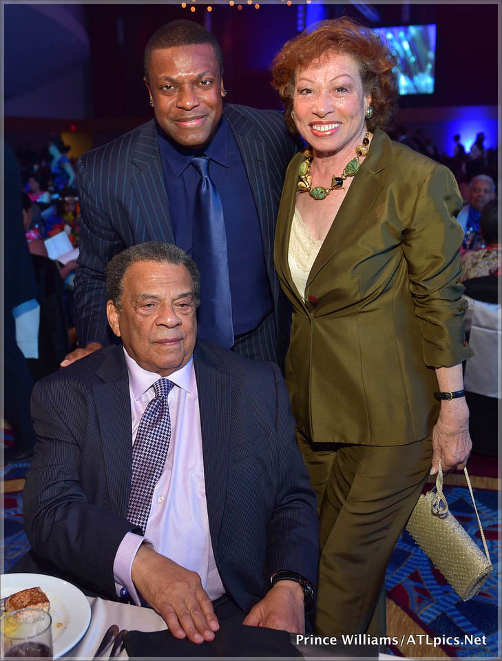 Andrew Young chris Tucker and Maynard Jackson widow