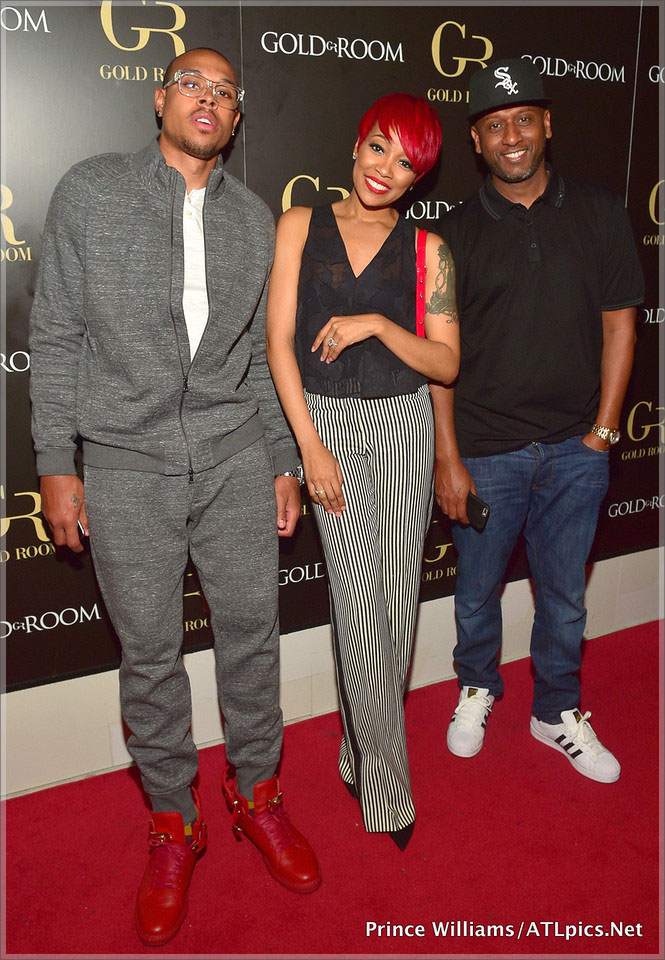 Monica and Shannon Brown with Alex Gidewon