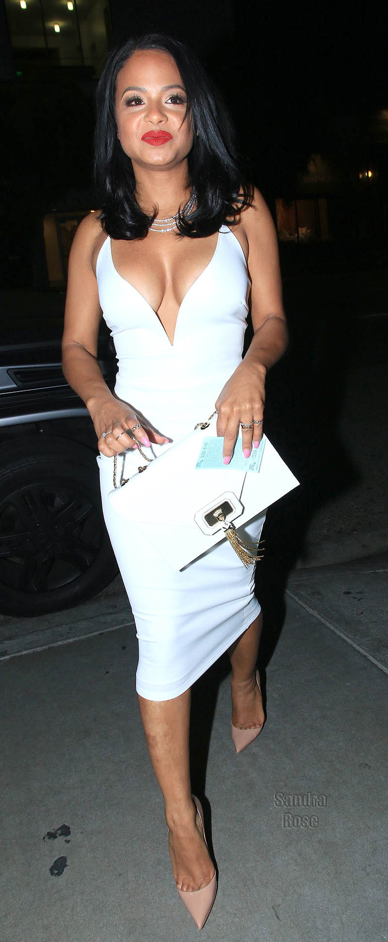 Christina Milian arrive at STK Steakhouse