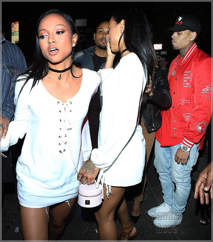 Karrueche and Chris Brown at club