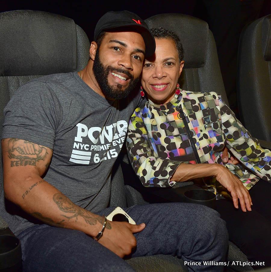 Omari Hardwick And His Mom Sandra Rose
