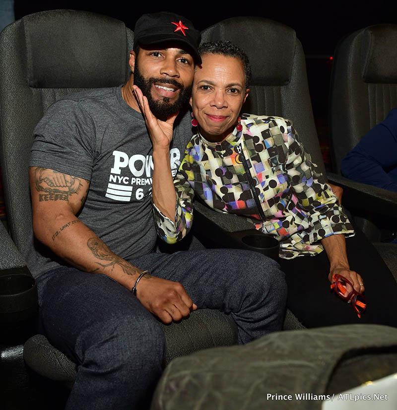 Omari Hardwick and his mom