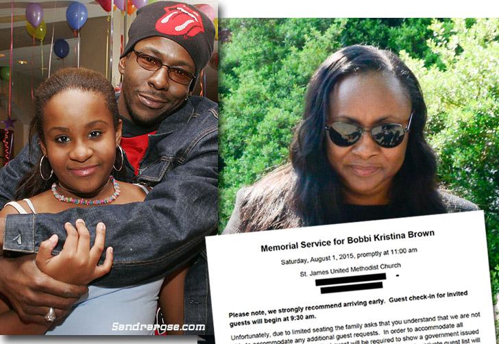 Bobbi Kristina Brown funeral invite