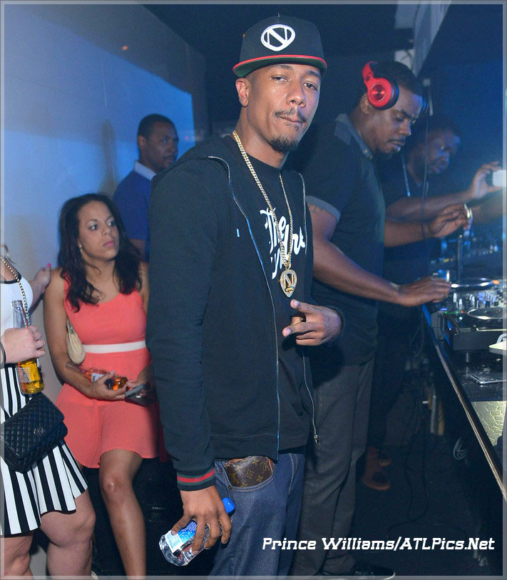 Nick Cannon attends Meek Mill album release party at Gold Room