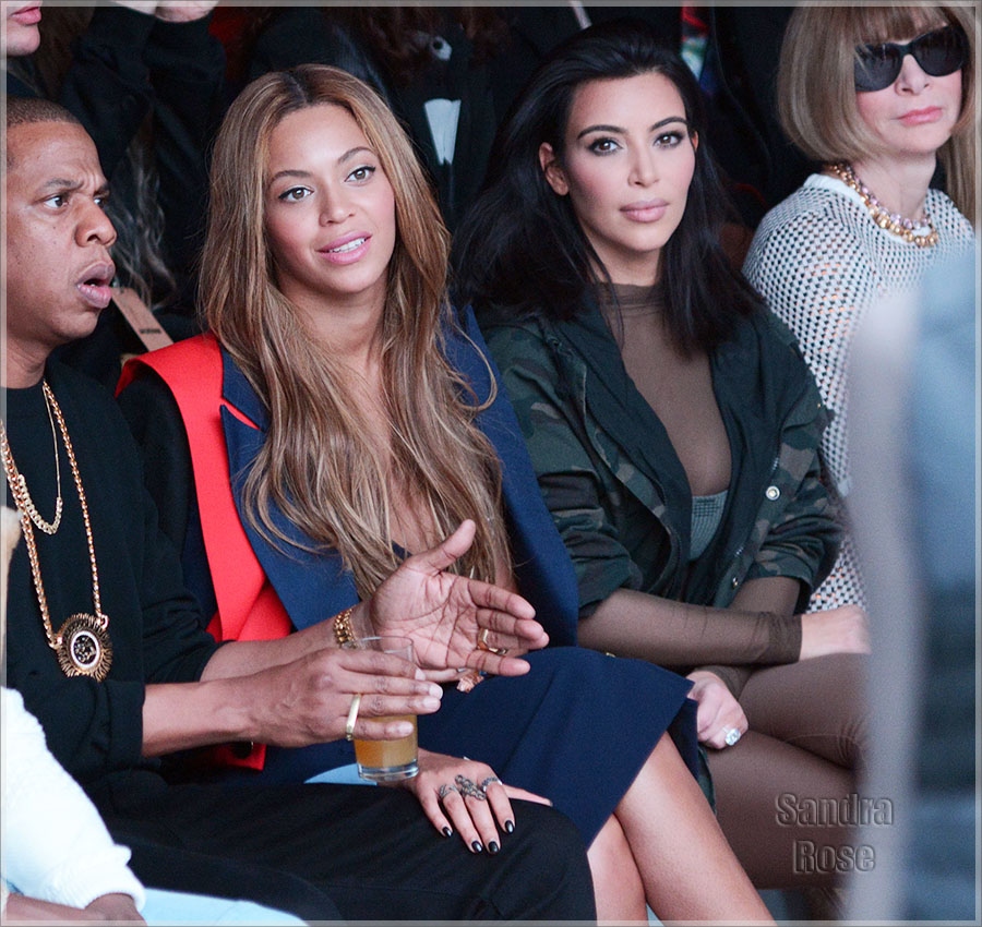 Beyonce and Kim Kardashian at NY Fashion Week 2015