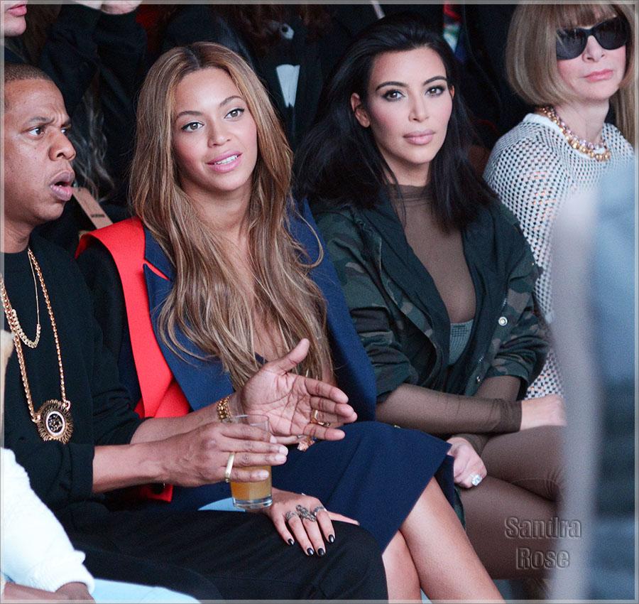 Beyonce and Kim Kardashian at NY Fashion Week 2015