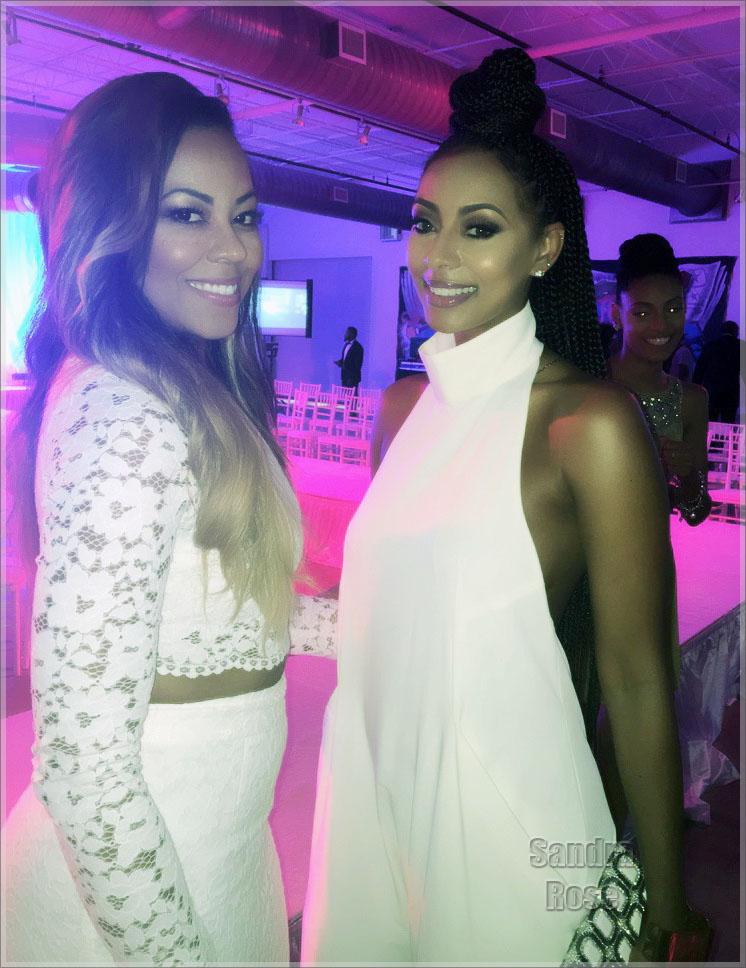 Keri Hilson and mom at Ebony Fashion Fair Reunion