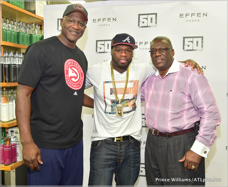 50 Cent promotes Effen Vodka in Atlanta