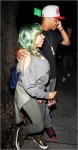 T.I. and his wife Tameka Cottle arrive at Madeo restaurant