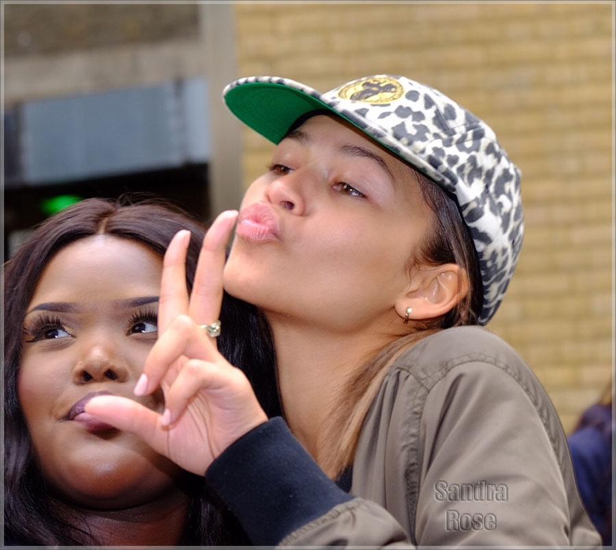 Disney star Zendaya Coleman with fans