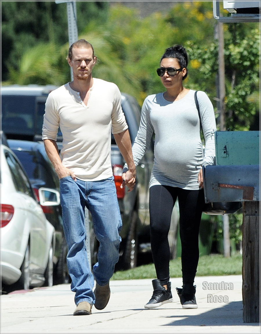 Pregnant Naya Rivera out furniture shopping with her husband Ryan Dorsey