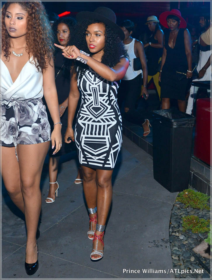 Janelle Monae attends 2 Chainz mixtape release party at SOHO