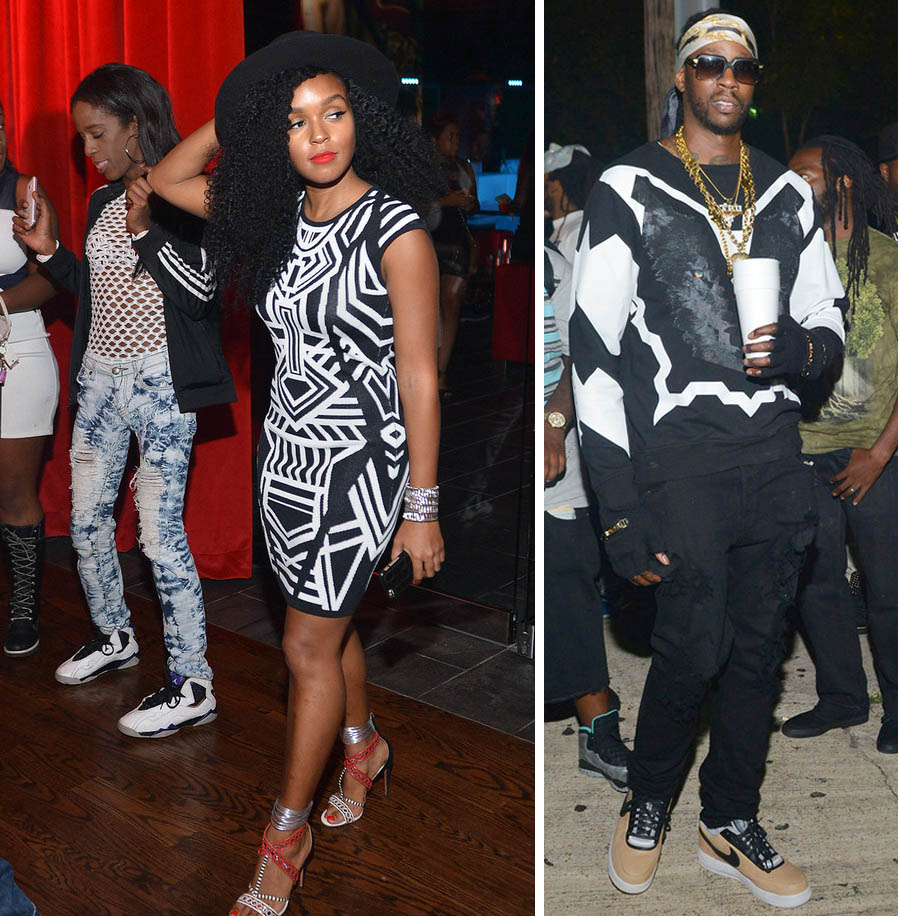 Janelle attends 2 chain mixtape party